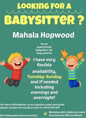 Mahala Hopwood Babysitting